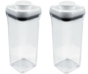 (2) ea Oxo International 1071398 1.5 Quart POP Food Storage Containers