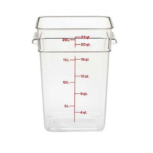 6PCE Camwear Storage Container 20.8L Clear 22SFSCW