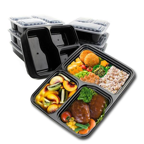 3 Compartment Lunch Box(10 Pcs)