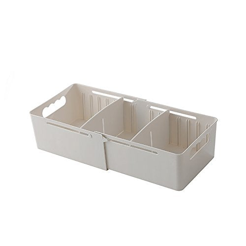 angel3292 Adjustable Cabinet Drawer Divider Sock Underwear Cosmetic Storage Organizer Box