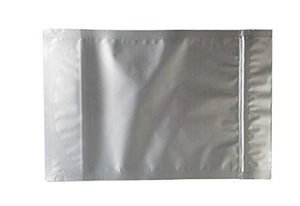 (50) - 8 X12 X4  Ziplock Stand Up Mylar Bag Gusseted Pouches - 5 Mil Genuine Resealable Odor-Proof Smell-Proof Aluminum Foil-Lined Bag For Long Term Food, Grain, Dried Flowers, Baking, Coffee, Storage Container
