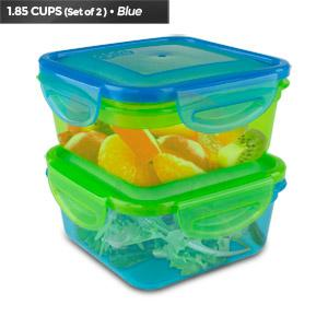 Cool Gear Expandable Air Tight Food Storage Lunch Box 1.85 CUP BPA-free 2-Pack