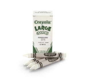 Crayola Bulk Crayons Large Size, White (2-Pack of 12)