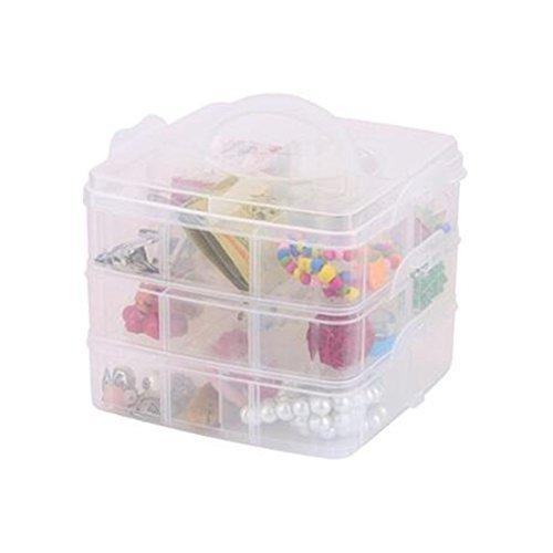 15/24/36/48 Grid Clear Adjustable Jewelry Bead Organizer Box Storage Container Case (36 Grids)