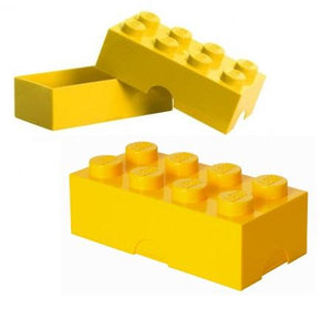 Yellow Lego Piece Storage Container/Lunch Box