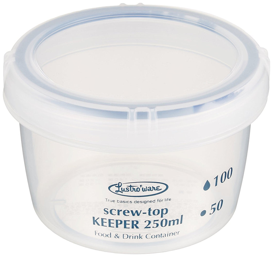 * Storage Containers Screw Top Keeper 250 Shallow Antibacterial B-2270kn