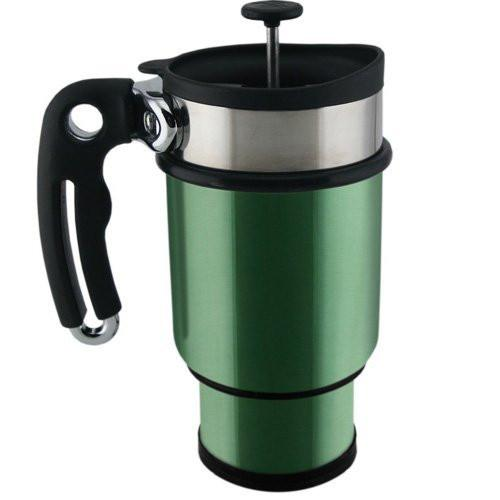 Planetary Design Double Shot French Press Coffee Mug - Green