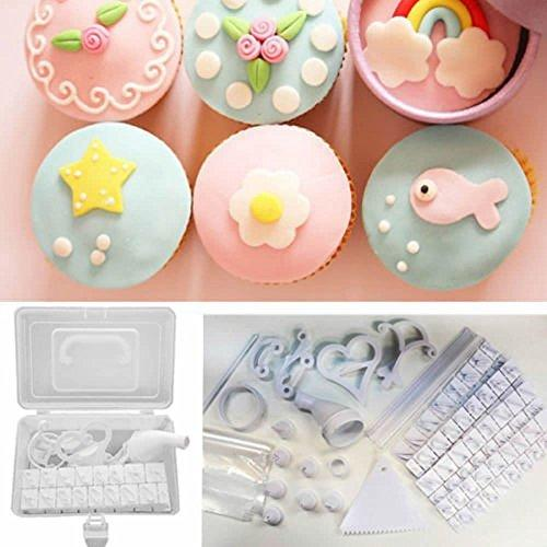 100Pcs Cookie Muffin Cake Cupcake Icing Decoratting Kit, Instruction And Decorating Idea Book
