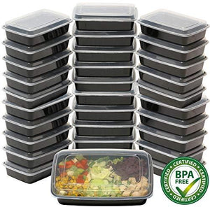 - Simplehouseware 1 Compartment Reusable Food Grade Meal Prep Storage Container Lunch Boxes, 28 Ounces