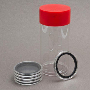 1 Airtite Coin Holder Storage Container & 5 Black Ring 33Mm Air-Tite Coin Holder Capsules For 1Oz Platinum Platypus