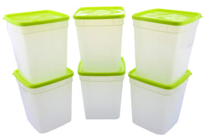 Arrow Reusable Plastic Storage Container Set, 6 Pack, 1 Quart / 4 Cup Each – Food, Meal Prep, Leftovers – Freeze, Store, Reheat - Clear Container Set With Lids – BPA-Free, Dishwasher / Microwave Safe