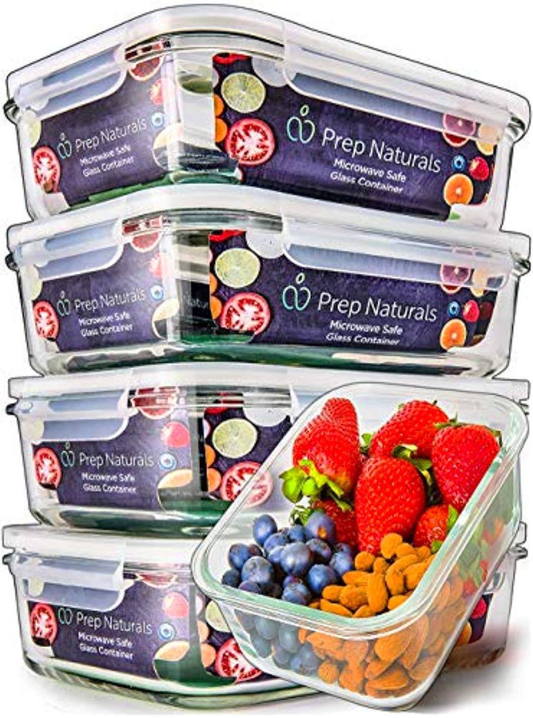 5-Pack 30oz Glass Meal Prep Containers