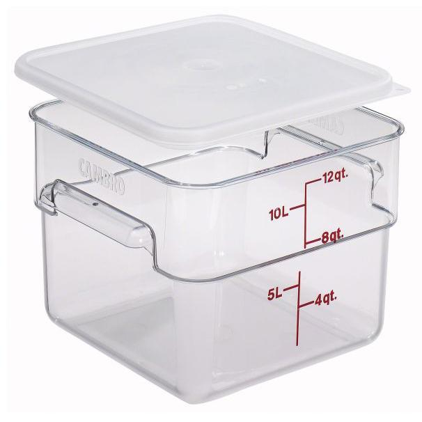 6PCE Camsquare Polycarbonate Container 11.4L Clear 12SFSCW