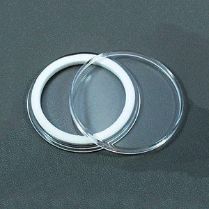 (5) Air-Tite 39Mm White Ring Coin Holder Capsules For 1Oz Silver & Copper Rounds Casino Chips