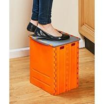 Fold Away Step Stool and Storage Box (with minor chips)