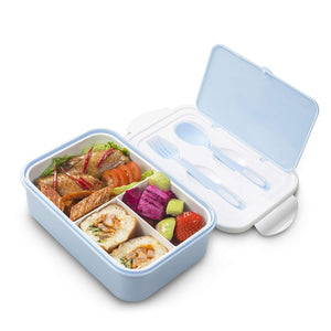 Bento Lunch Box for Kids –3 Compartments Containers – FDA Blue