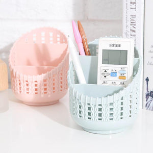 Plastic Desktop Organizer Storage Basket Finishing Box Cosmetics Debris Case Desk Storage Container