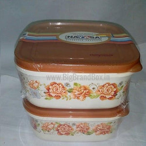Set Of 2- 2200ML Storage Container