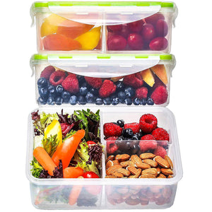 Bento Box Food Containers (3 Pack, 1150 Ml) - Storage with...