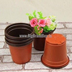 Plastic Planter Pot Brown