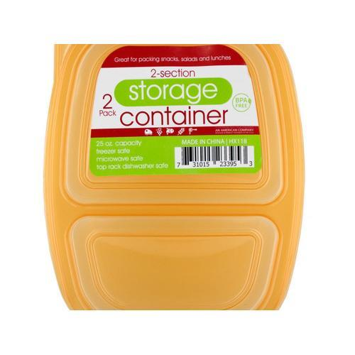 2-Section Food Storage Container Set ( Case of 24 )