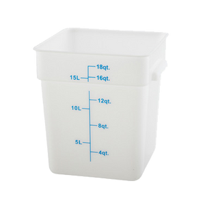 BPA Free Poly 18 qt. Storage Container