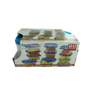 20 piece storage container set ( Case of 1 )