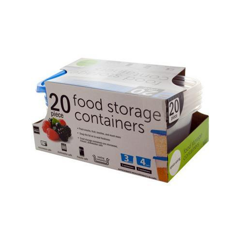 Food Storage Containers Set ( Case of 16 )
