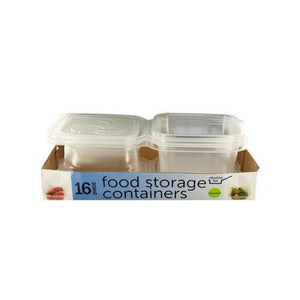 Food Storage Containers with Attached Lids ( Case of 4 )