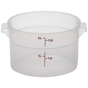 Cambro RFS2PP190 Round Storage Container 2 Qt Plastic Clear, NSF