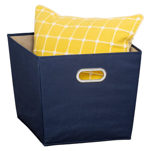 Large Storage Bin with Handles, Navy