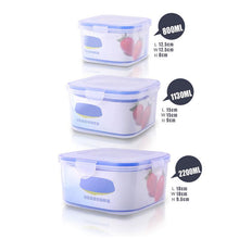 Kitchen Storage Boxes Lunch Boxs Set of 3 PCS Plastic Airtight Seal Food Storage Container Fruit Cereals Grains Box with Lid