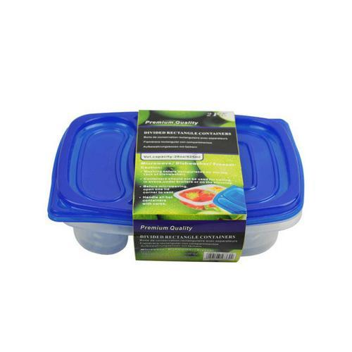 2-section storage containers pack of 2 ( Case of 48 )