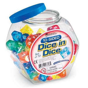 10-Sided Dice In Dice, Set of 72