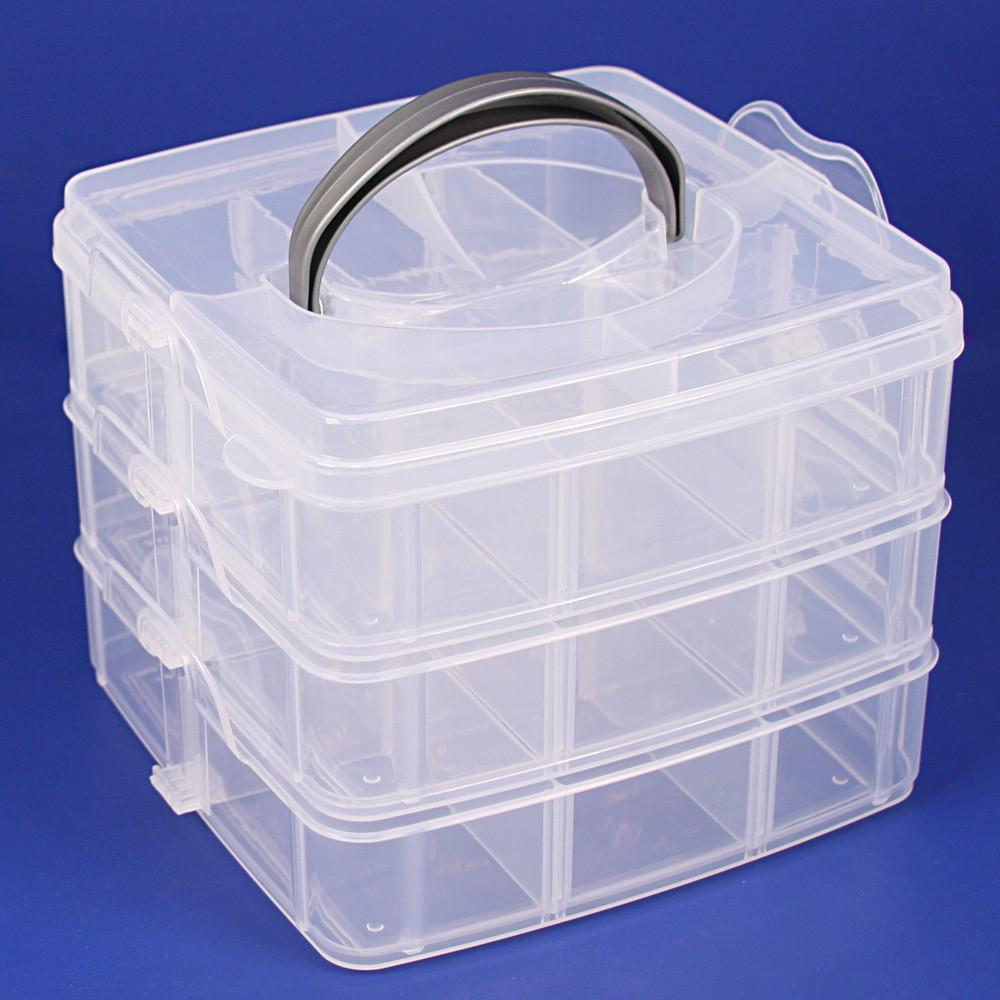#BX-8330 Frosted Plastic 3 Layer Storage Box