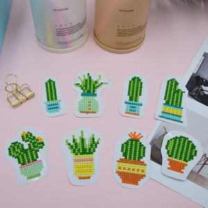 Cacti Stickers (8 Pack) - 5D Diamond Painting