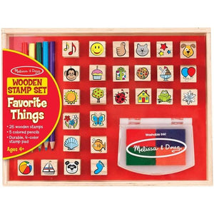 Melissa & Doug Wooden Stamp Set - Favourite Things