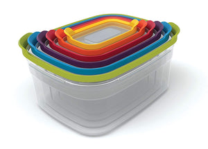 Joseph Joseph 81009 Nest Storage Plastic Food Storage Containers Set Food S