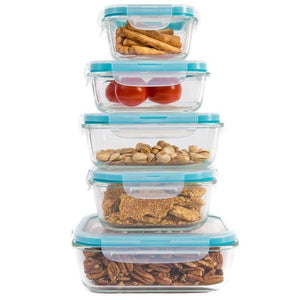 GlassFresh Food Storage Container Set with Locking Lids
