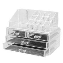 2Model Acrylic Cosmetic Organizer 3-Layer Lipstick Holder Display Stand Clear Makeup Case Makeup