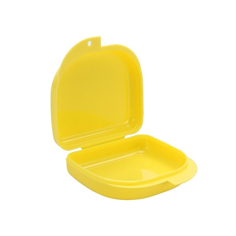 Retainer Case With Vent Holes and Hinged Lid Snaps Mouth Guard Case Orthodontic Dental Retainer Box Denture Storage Container