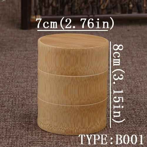 Bamboo Storage Bottles Kitchen Tea Container Jar Cans Case Organizer Spice Round Caps Seal Box Canister For Bulk Products