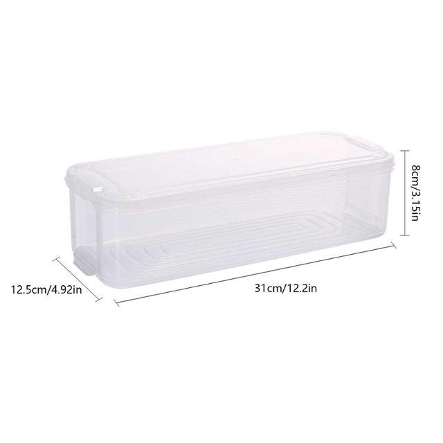 Plastic Storage Bins  Box Food Storage Containers with Lid Freezer Organizer