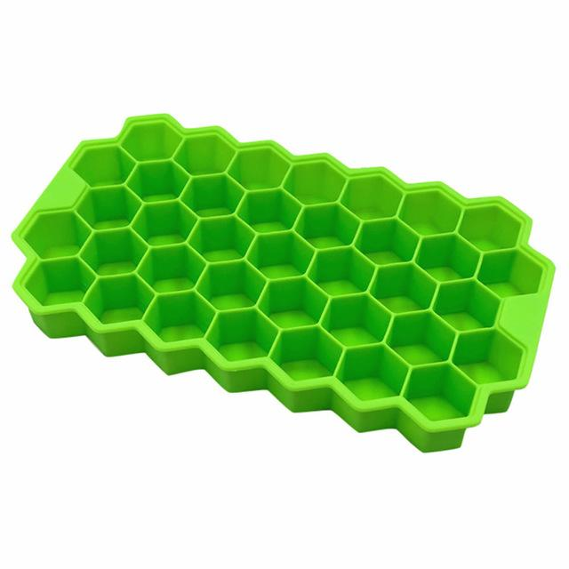 1 Pc Home Kitchen Ice Cube Tray Summer Honeycomb Shape Ice Cubes Tray Mold Storage Containers Drinks Molds