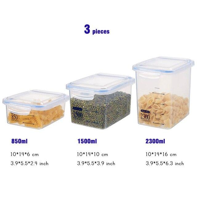 Food Storage Containers Airtight Jars Value Set