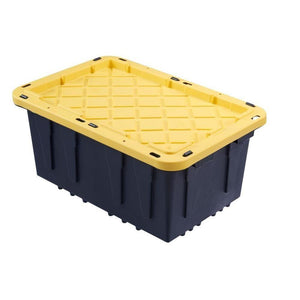 12 Gal. Flat Lid Tough Tote Storage Container Bin Box Lockable Organizer By HDX