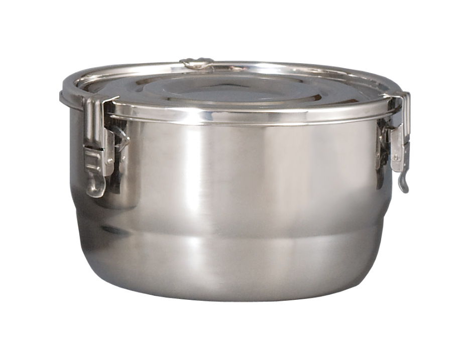 CVault Stainless Steel AirTight Metal Storage & Curing Container - 26cm (8L)