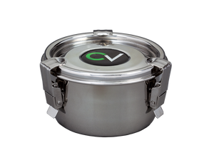 CVault Stainless Steel AirTight Metal Storage & Curing Container -  8cm (Small)