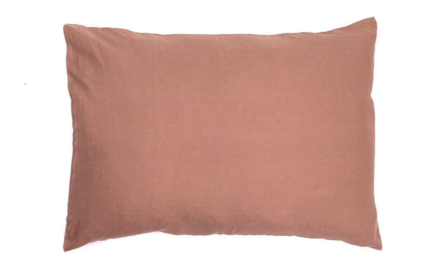 CHOCOLATE PILLOW SLIPS 001 (SET OF 2) - Kate James Studios | Linen Bedding