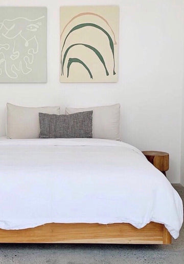WHITE DUVET COVER 001 - Kate James Studios | Linen Bedding